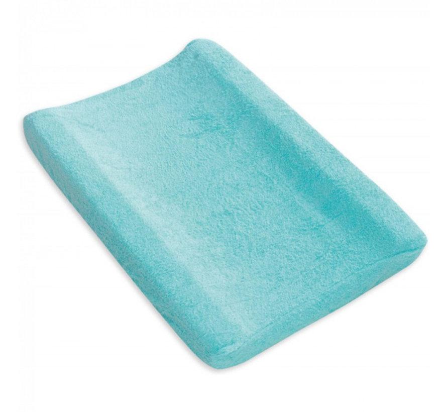 aankleedkussenhoes 55 x 80 cm katoen turquoise