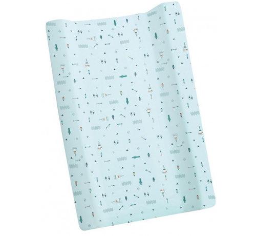 Interbaby aankleedkussenhoes Tipi Oso 80 x 52 cm katoen blauw