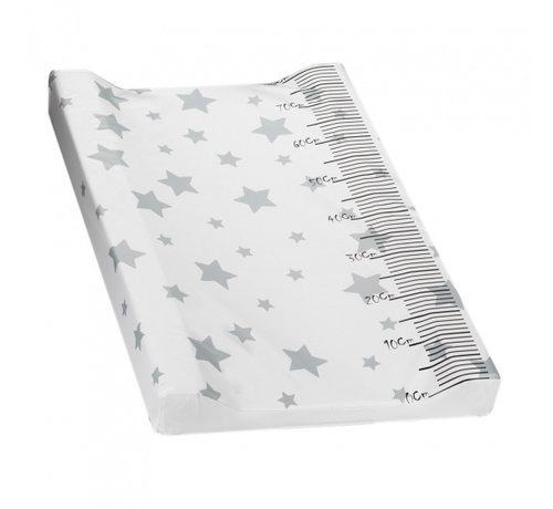 Interbaby aankleedkussen Ster 80 x 55 cm PVC wit