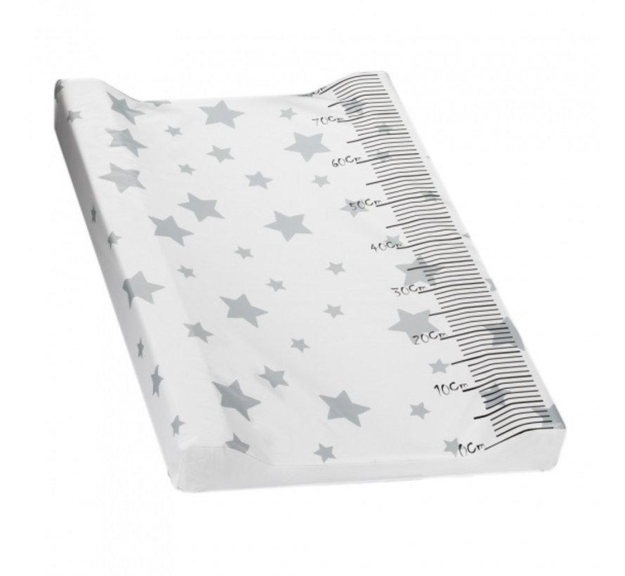 aankleedkussen Ster 80 x 55 cm PVC wit