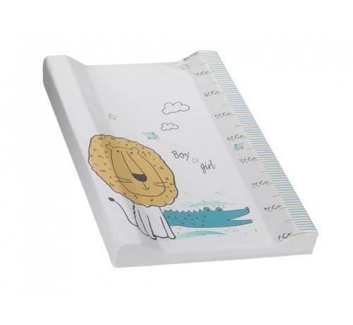 Interbaby aankleedkussen Leeuw 80 x 55 cm PVC wit