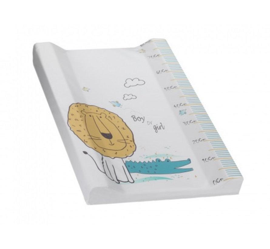 aankleedkussen Leeuw 80 x 55 cm PVC wit