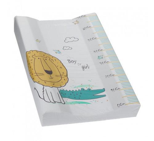 Interbaby aankleedkussen Leeuw 70 x 55 cm PVC wit