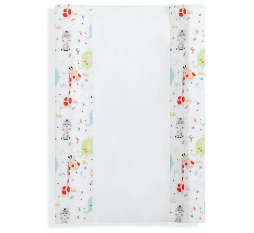 Interbaby aankleedkussen Jungle 80 x 55 cm katoen/PVC wit