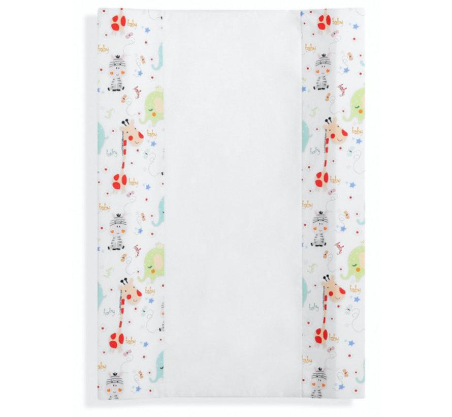aankleedkussen Jungle 80 x 55 cm katoen/PVC wit