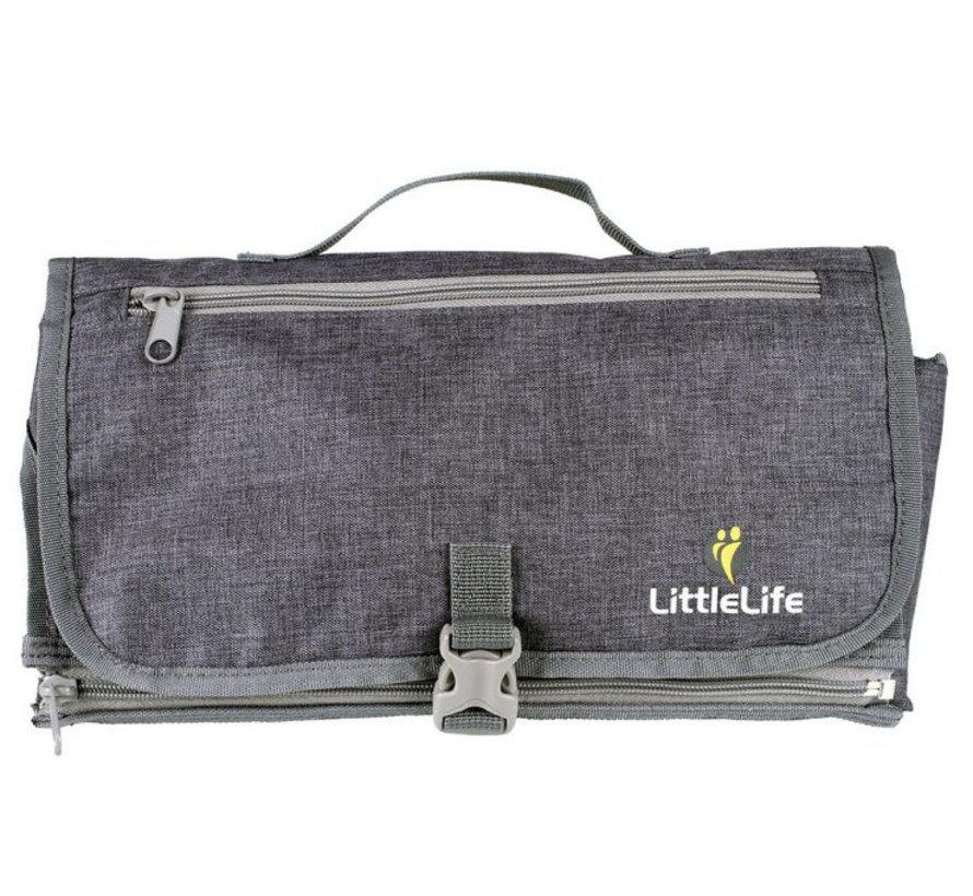 aankleedkussen baby draagbaar 92 cm polyester grijs