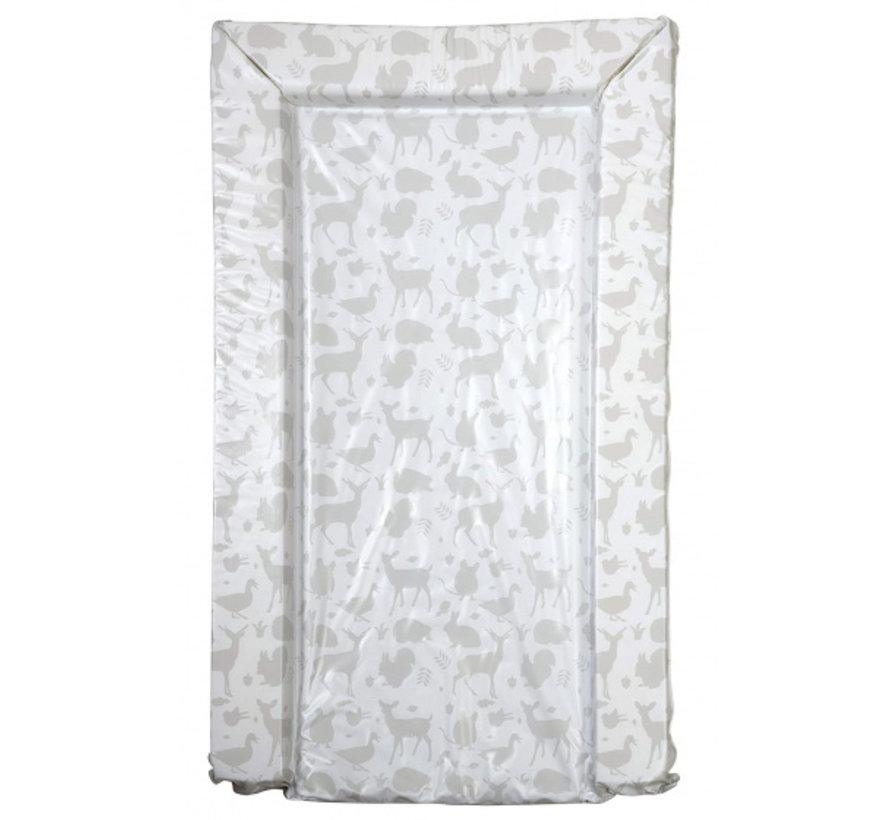 aankleedkussen bosdieren wit/grijs 75 cm