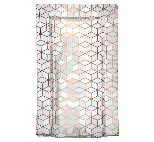 East Coast aankleedkussen geometrische print roze/mint/wit 75 cm