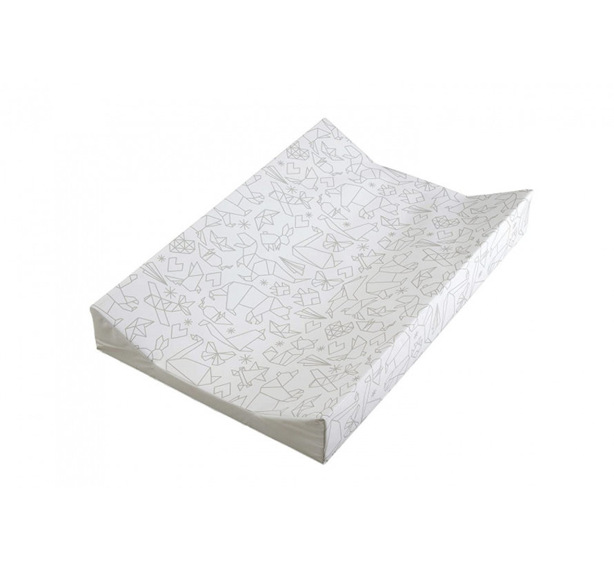 aankleedkussen origami wit 69 cm