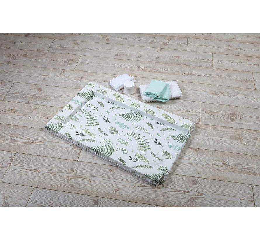 aankleedkussen bladeren wit/groen 75 cm