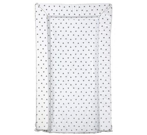 East Coast aankleedkussen driehoek wit/grijs 75 cm
