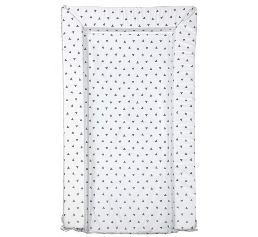 aankleedkussen driehoek wit/grijs 75 cm