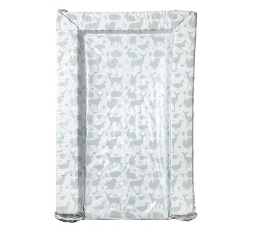 aankleedkussen dieren wit/groen 75 cm