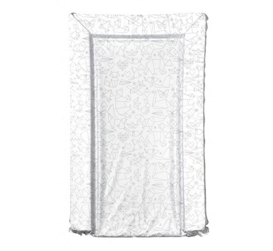 aankleedkussen origami wit/grijs 75 cm