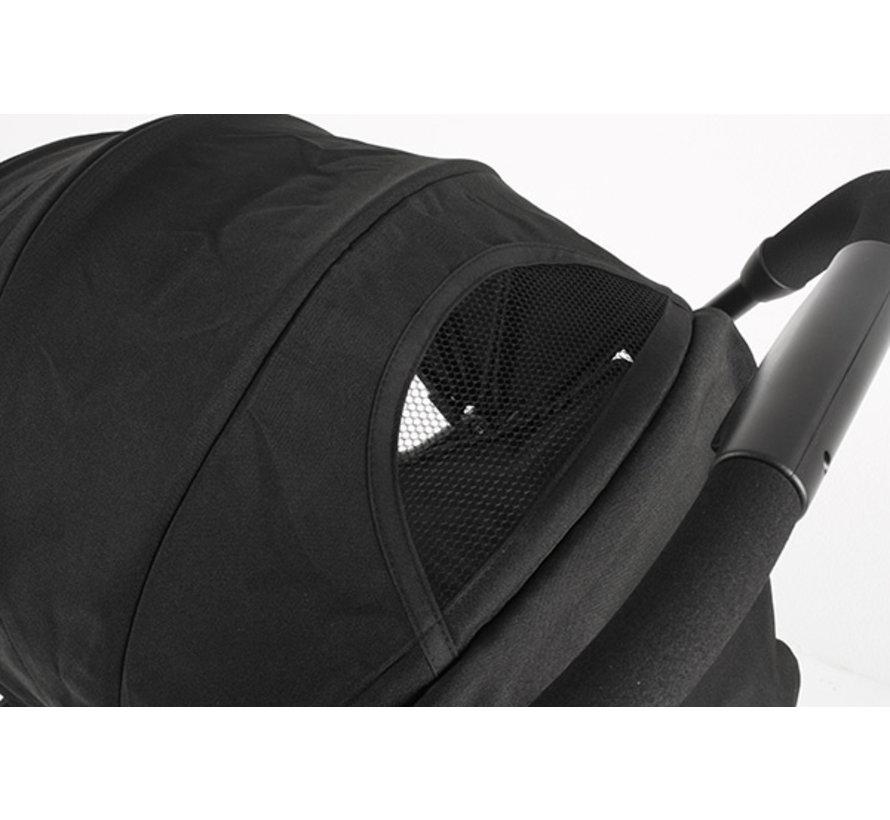 buggy Ymo Plus junior 45 x 105 cm aluminium zwart