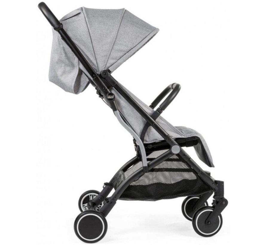 buggy Trolley Me 101 cm aluminium/polyester grijs/zwart