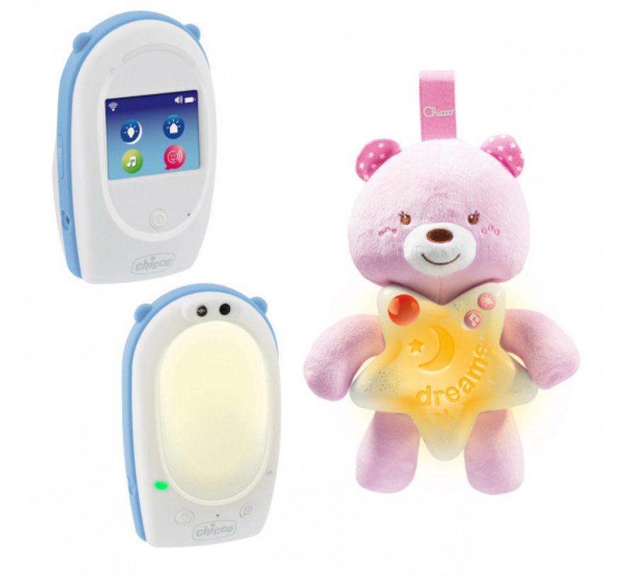 babyfoon First Dreams meisjes wit/blauw 3-delig