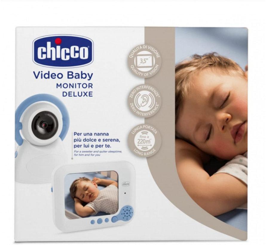 babyfoon Video Deluxe 254 wit/blauw 2-delig