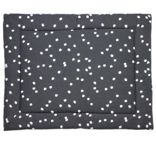 Briljant Baby boxkleed Spots 80 x 100 cm katoen antraciet/wit