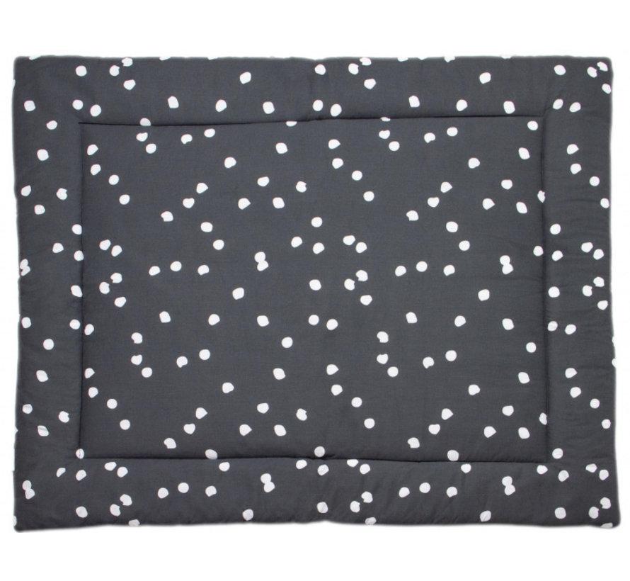 boxkleed Spots 80 x 100 cm katoen antraciet/wit