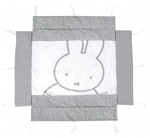 Roba boxkleed Nijntje junior 96 x 96 cm polyester grijs/wit