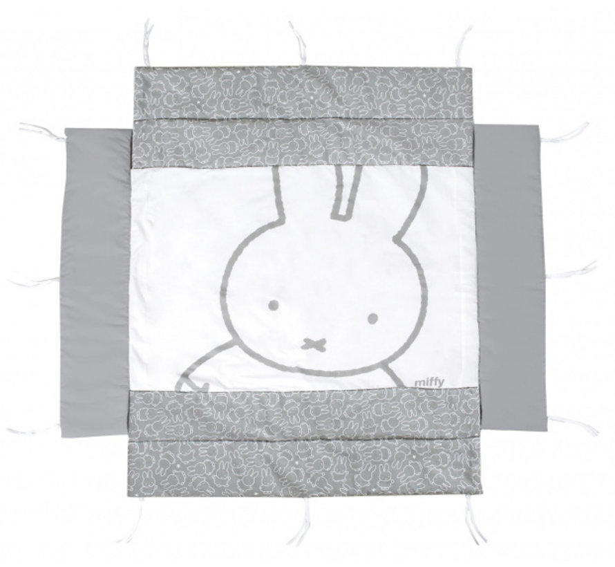 boxkleed Nijntje junior 96 x 96 cm polyester grijs/wit