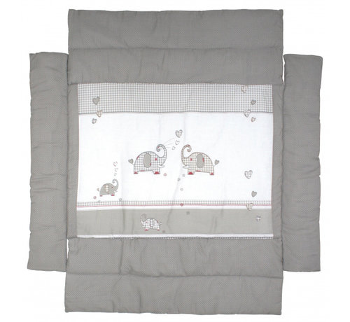Roba boxkleed Jumbotwins junior 96 x 96 cm polyester grijs