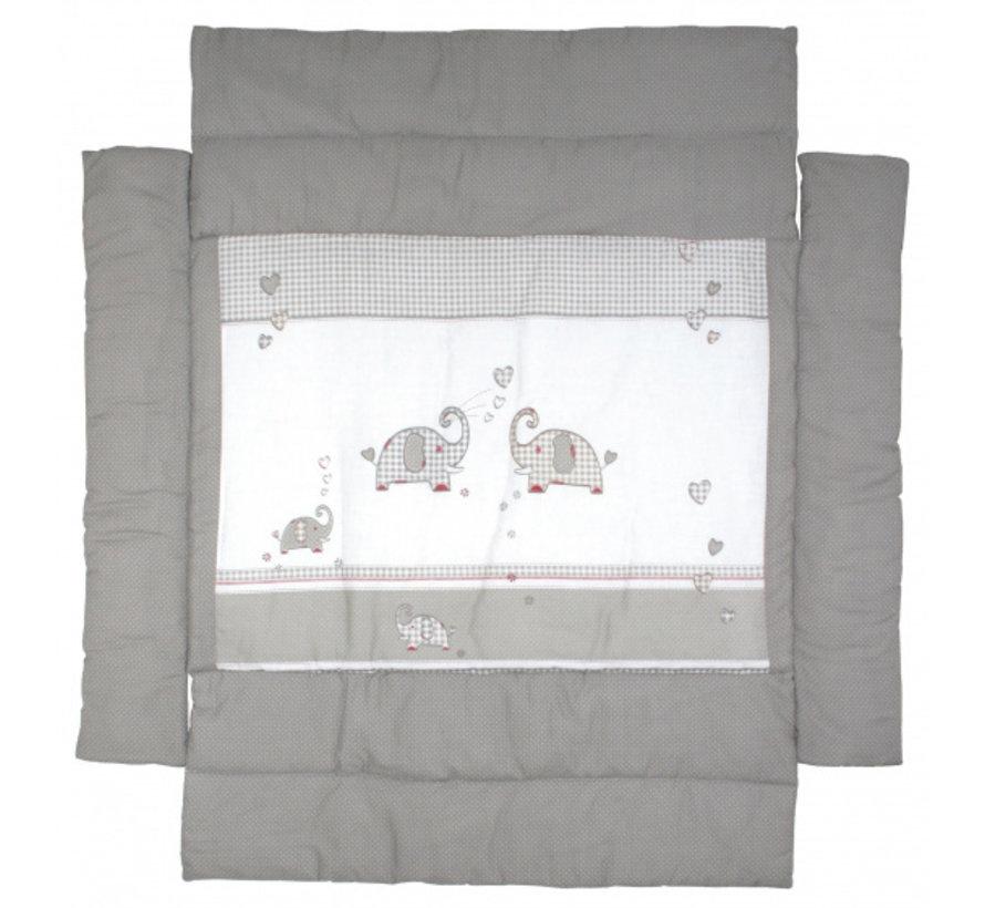 boxkleed Jumbotwins junior 96 x 96 cm polyester grijs