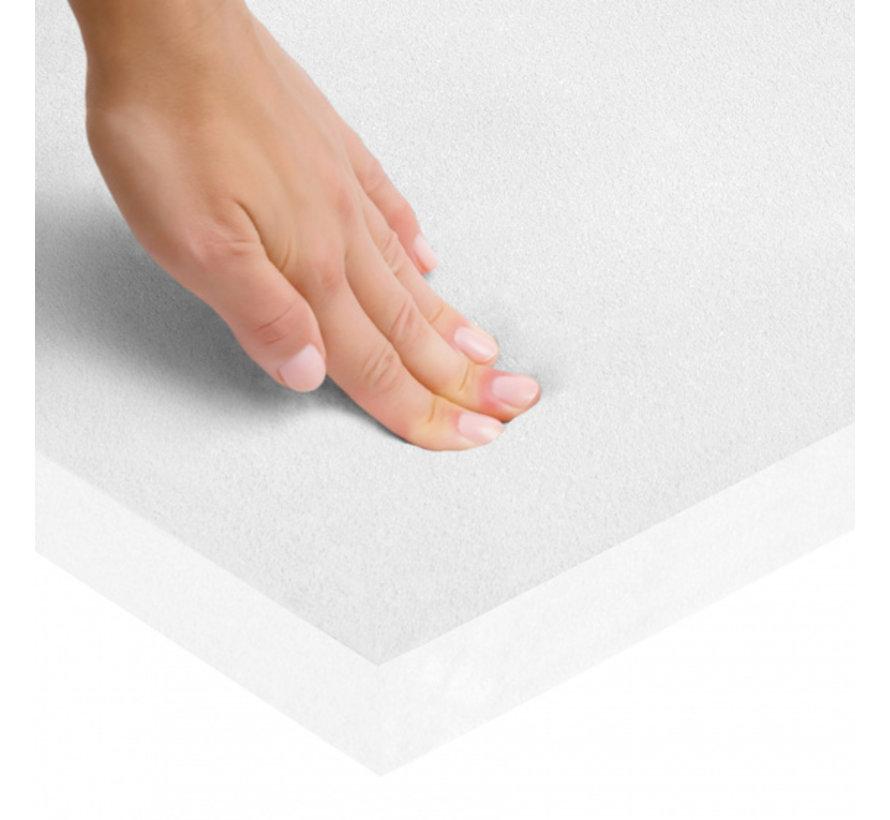 boxkleed junior 100 x 100 x 4 cm polyester wit 2-delig