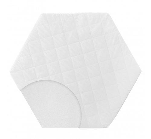 Roba boxkleed zeshoekig 112 x 97 x 4 cm polyester wit 2-delig