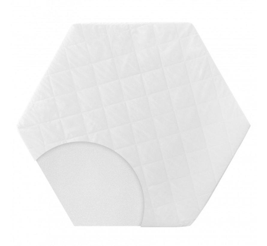boxkleed zeshoekig 112 x 97 x 4 cm polyester wit 2-delig