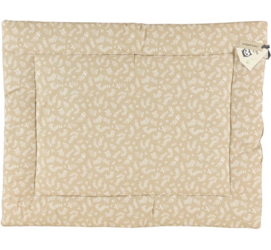 boxkleed Organic Botanic 80 x 100 cm katoen beige