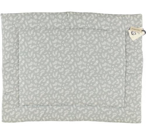 Briljant Baby boxkleed Organic Botanic 80 x 100 cm katoen grijs
