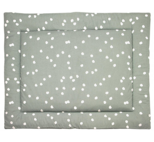 Briljant Baby boxkleed Spots 80 x 100 cm katoen groen/wit