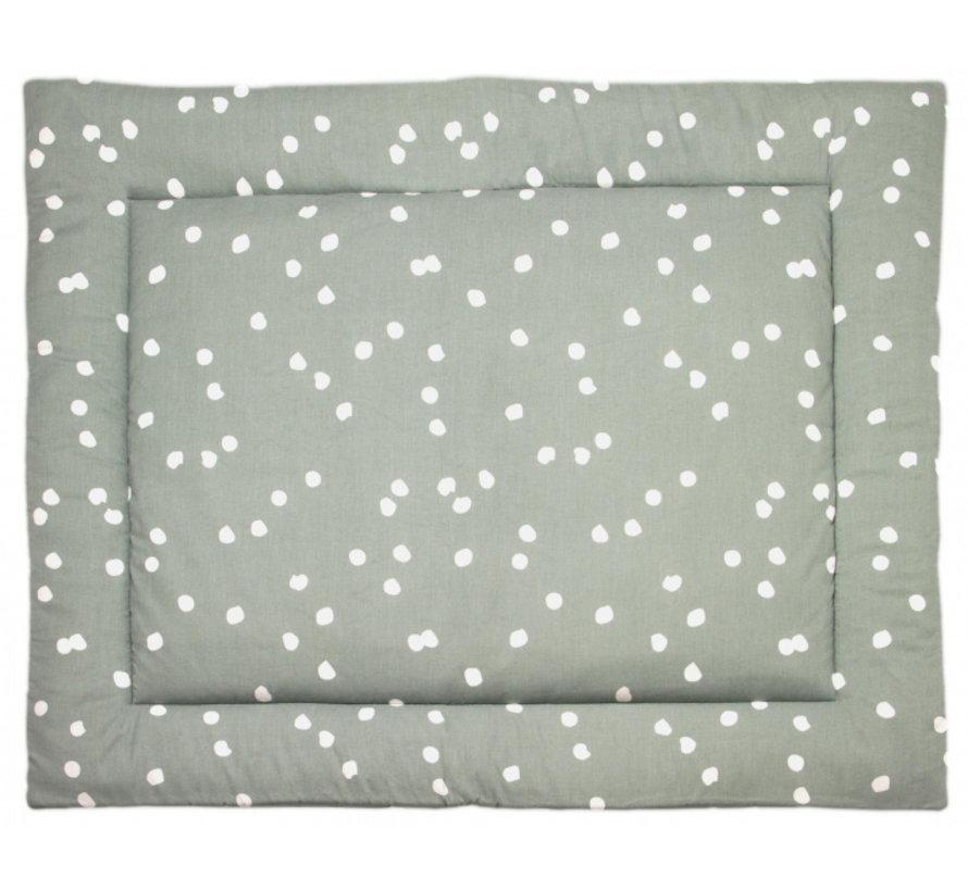 boxkleed Spots 80 x 100 cm katoen groen/wit