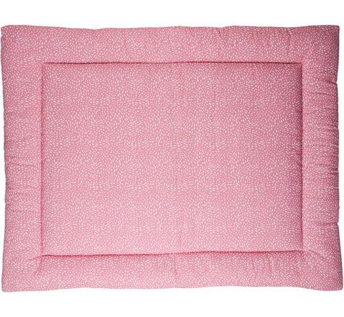 Briljant Baby boxkleed Minimal Dots 80 x 100 cm katoen roze