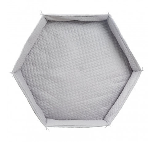 Roba boxkleed Hexagonal junior 115 cm polyester zilvergrijs