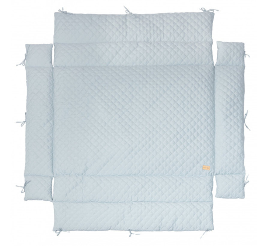 boxkleed Style junior 96 x 18 cm polykatoen lichtblauw