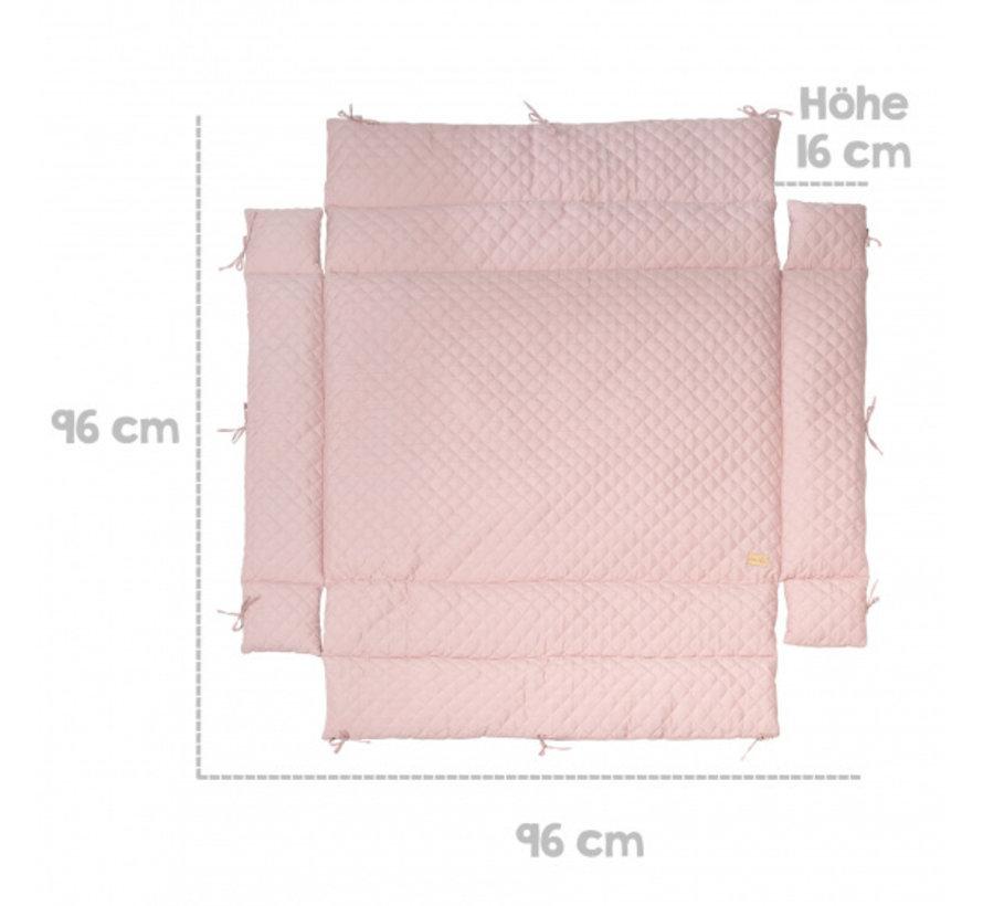 boxkleed Style junior 96 x 18 cm polykatoen roze