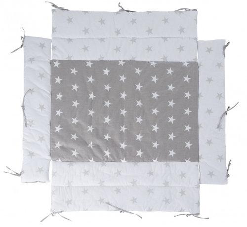 Roba boxkleed Little Stars junior 96 x 18 cm polykatoen grijs
