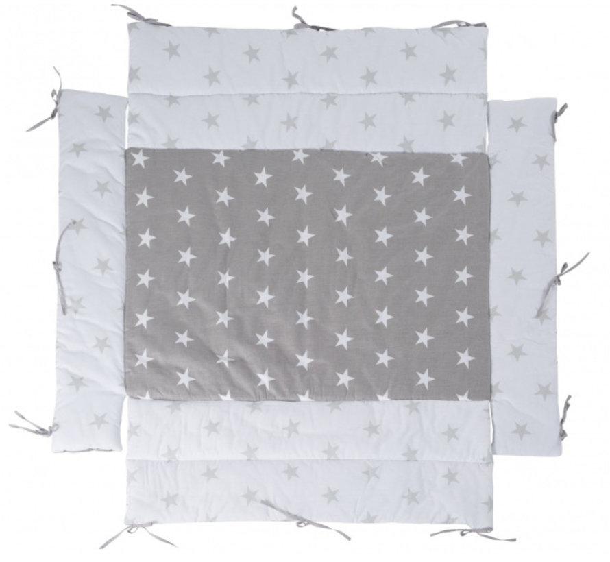 boxkleed Little Stars junior 96 x 18 cm polykatoen grijs