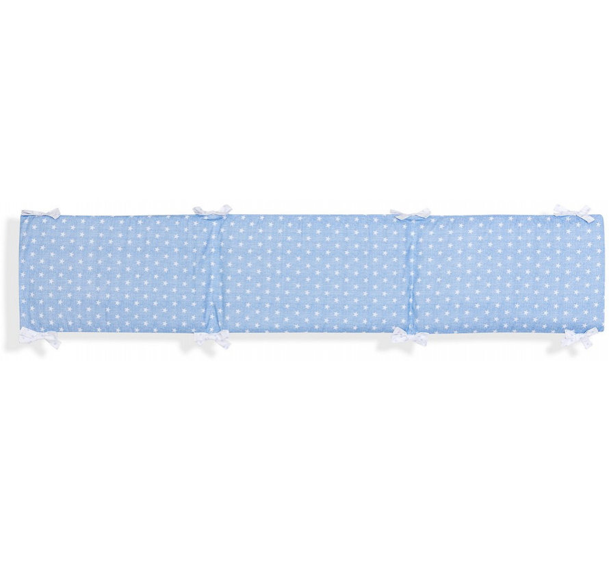 boxkleed Ster junior 40 x 226 cm katoen blauw