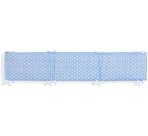 Interbaby boxkleed Ster junior 40 x 185 cm katoen blauw