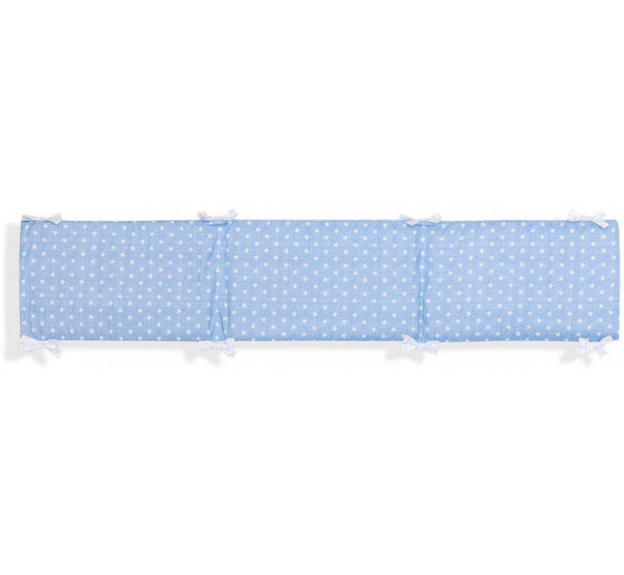 boxkleed Ster junior 40 x 185 cm katoen blauw