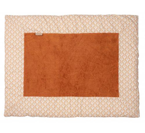 Pericles boxkleed 75 x 95 cm katoen/bamboe wit/bruin