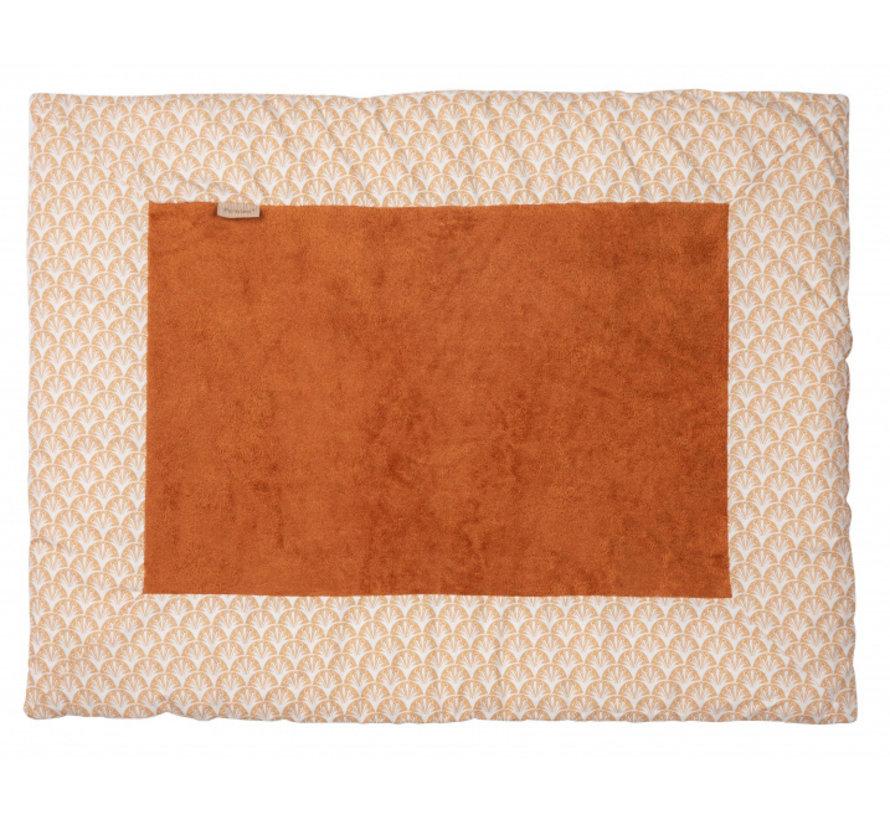 boxkleed 75 x 95 cm katoen/bamboe wit/bruin