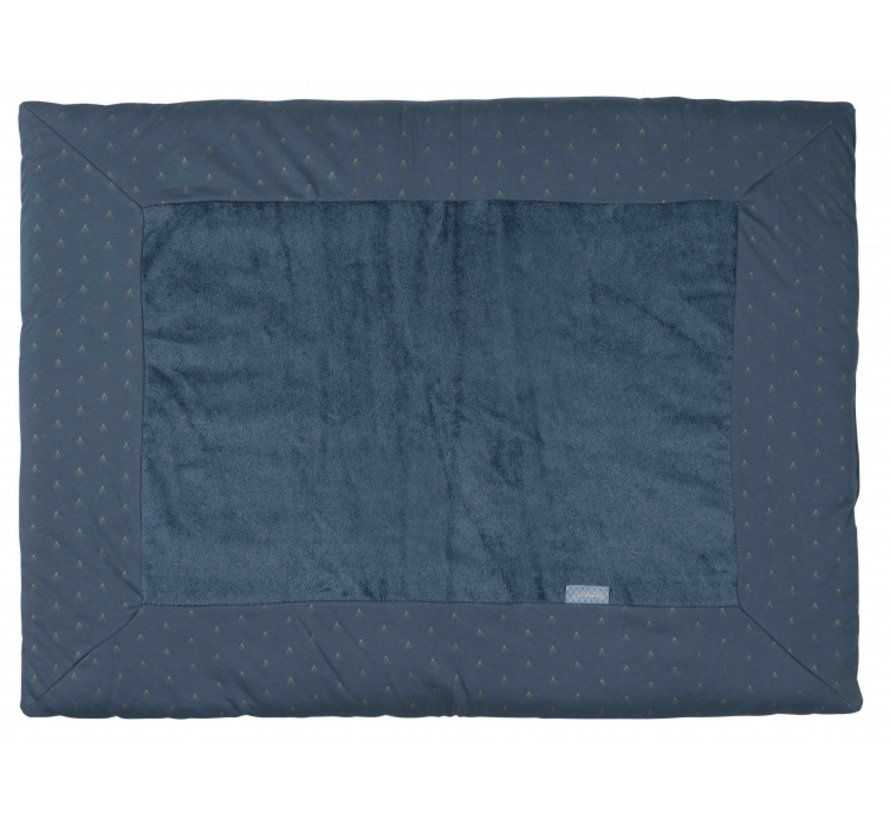 boxkleed 75 x 95 cm katoen/bamboe donkerblauw