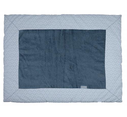 Pericles boxkleed 75 x 95 cm katoen/bamboe blauw