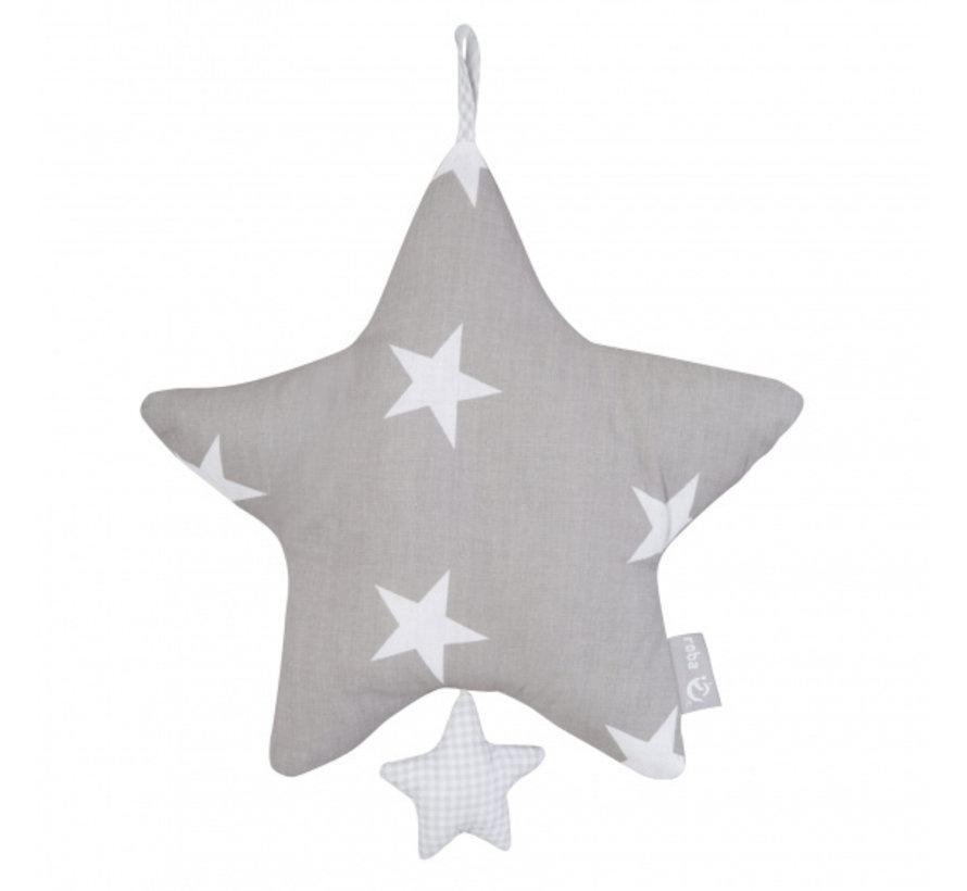 muziekdoos Little Stars 27 cm grijs