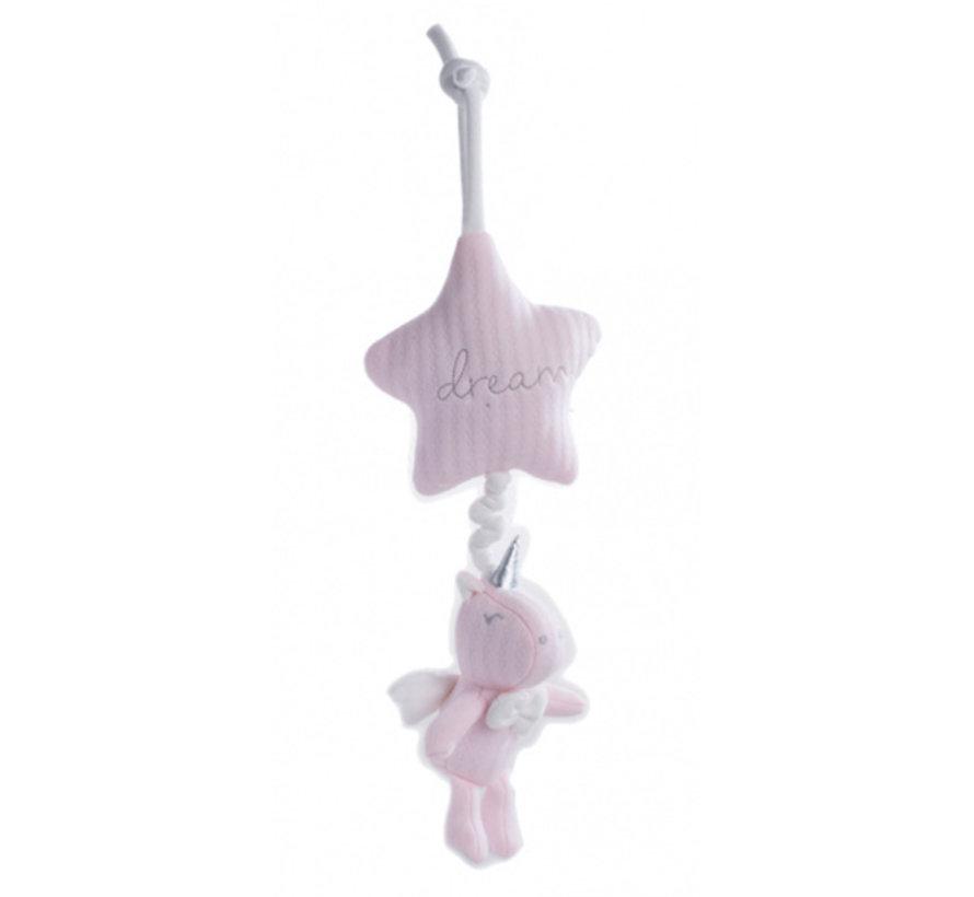 muziekdoosje Dream 28 cm pluche roze